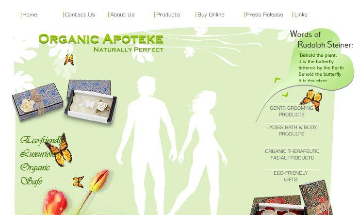 Organic Apoteke - Web Design