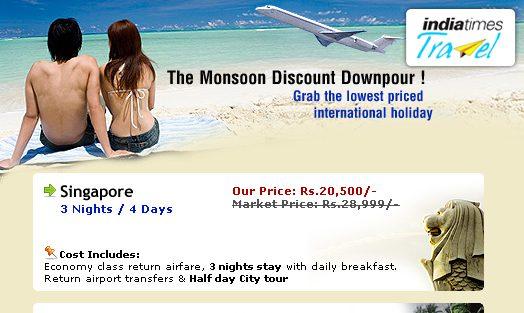 IndiaTimes Travel Mailer