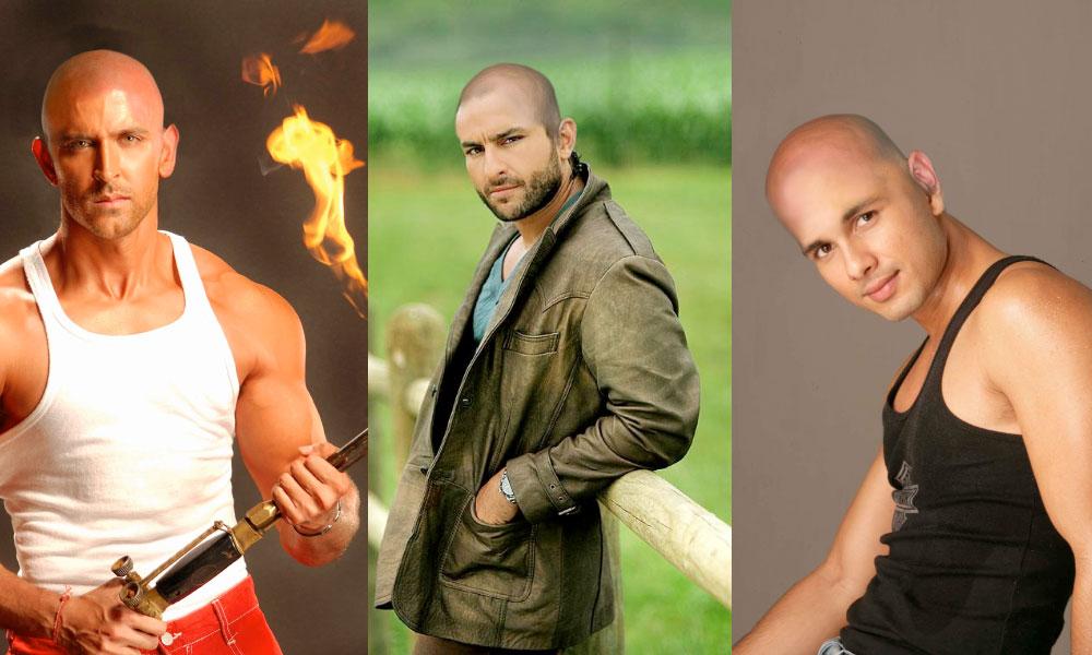 Bald Actors Look Hritik Saif Shahid